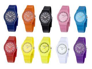 Trend Uhr,  Armband Uhren,  Rot Gelb Blau Lila Orange Weiß Schwarz Rosa Türkis Bild