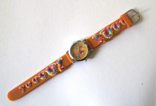 Kinderuhr Armbanduhr Quartz Wasserdrache Orange Kinderarmbanduhr Bild
