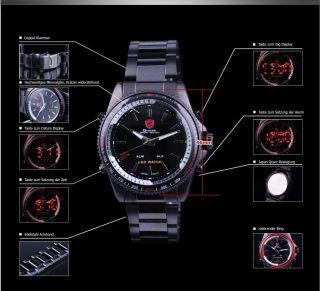 Shark Sportuhr Led Digital Uhr Herrenuhr Quarzuhr Herren Uhr Schwarz Armbanduhr Bild