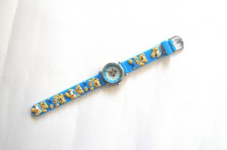 Kinderuhr Armbanduhr Quartz Bärchen Blau Kinderarmbanduhr Bild