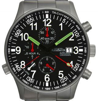 R70s,  40mm,  Astroavia,  Alarm Chronograph,  Wecker,  Flieger Uhr,  Military Watch Bild