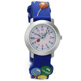 Kinder - Armbanduhr In Blau Von Quarz Analog Kinderuhr Lea Und Tim Uhr Bild