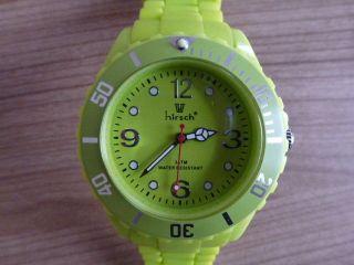 Armbanduhr Hirsch - Kunststoff Uhr Mit Silikon Armband Grün Incl.  Neuer Batterie Bild