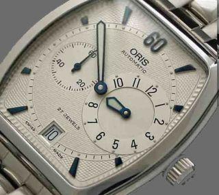 Oris Regulateur Tonneau Automatik Armbanduhr Unbenutzt Top Bild