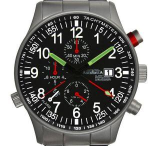 R71s,  40mm,  Astroavia,  Alarm,  Chronograph,  Wecker,  Flieger Uhr,  Military Watch Bild