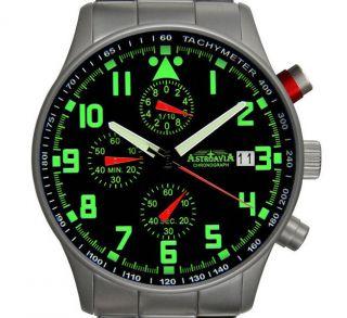 N94s,  40mm,  Astroavia,  Flieger Uhr,  Pilot,  Military Chronograph,  1/10 Sek. Bild