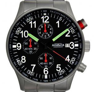 N97s,  40mm,  Astroavia,  Flieger Uhr,  Pilot,  Military Chronograph,  1/10 Sek. Bild