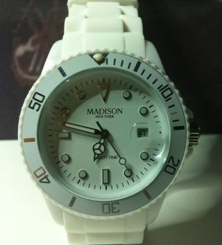 Armbanduhr Madison Candy Time York Weiß In Beach Bag Bild