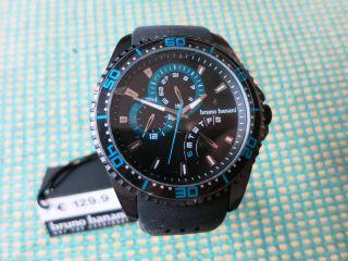 Bruno Banani Herren - Armbanduhr Xl Shiva Analog Quarz Kautschuk Br22005 - Neu&ovp Bild