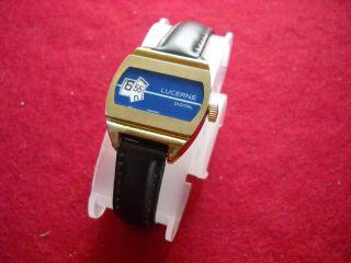 Armbanduhr Lucerne Digital Scheibenuhr 60er 70er Jahre Bild