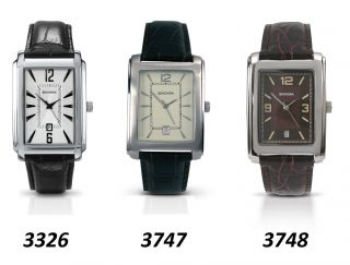 Sekonda Herren Armbanduhr Klassisch Leder Armband Silber Gold Braune Anzeige Bild