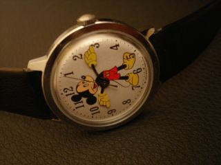 Vintage 1971 Full Size Timex Disney Mickey Mouse Uhr Watch Montre Handaufzug Bild