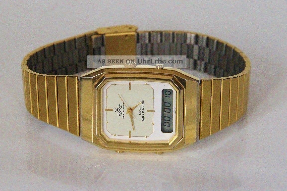 80er Jahre Meister Anker Analog/digital Chronograph Armbanduhren Bild