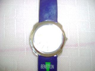 Benetton Armbanduhr,  Edelstahl,  Datumsanzeige,  Sekundenzeiger,  Armband Kunstst Bild