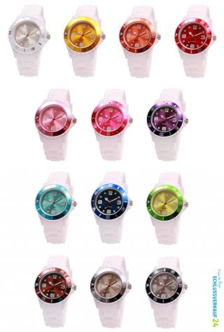 Sv24 Armbanduhr Watch Topring Xl Silikon Uhr Damen Herren Quarz Sport Uhren Bild