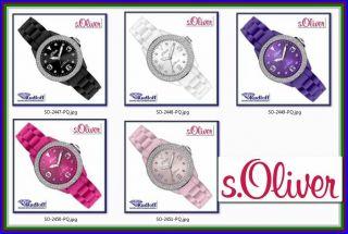 S.  Oliver Uhr Watch Sili Small So - Viele Farben 38mm 2447 2448 2449 2450 2451 - So Bild