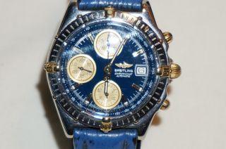 Breitling Chronomat Automatic - Massive Herrenuhr In Ovp Mit Papieren Bild