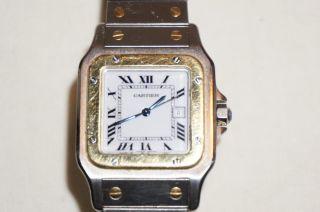 Cartier Santos Automatik Herrenuhr - Stahlgold - Großes Modell - In Originalbox Bild