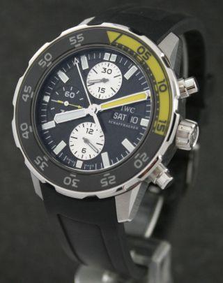 Iwc Aquatimer Chrono Ref.  3767 Stahl/rubber Ungetragen Bild