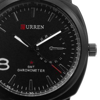 Curren Herren Armbanduhr In Zwei Farben Echt Leder Armband C001 Bild