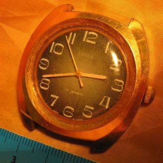 Zaria Armbanduhr Werk 2009 70er 40mm Groß Russian Watch Cccp Montre Magnetschutz Bild