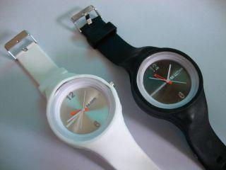 Uhr,  Silikon,  Armbanduhr,  22,  5 Cm,  Schwarz,  Weiß, Bild