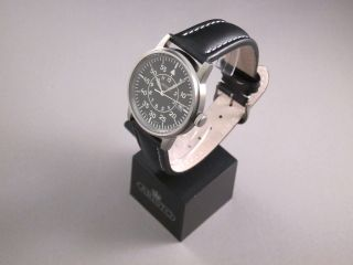 Aristo 5h97,  Fliegeruhr,  Beobachter,  Armbanduhr,  Titan,  Lederband,  Quarz Bild