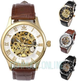 Sewor Retro Herrenuhr Automatik Mechanische Business Herren Uhr Armbanduhr,  Box Bild
