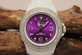 Ice Watch Ipe.  St.  Wpe.  U.  S.  12 Stone White Purple Unisex Weiß Bild