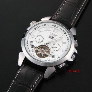D Herrenuhr Mechanische Automatikuhr Armbanduhr,  Neon Anzeige Bild