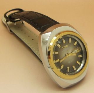 Camy Geneve Sea Club Crystal Mechanische Handaufzug Uhr Tages - Und Datumanzeige Bild