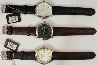 Time Force Herren Armbanduhr Edelstahl Lederband Uvp: 139€ - 149€ Ovp Angebot Bild