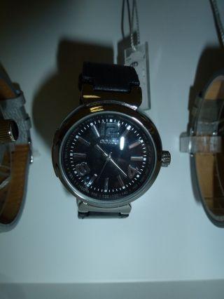 Oozoo Armbanduhr Uhr Modisch&edel,  Leder Band Schwarz Sporty Bild