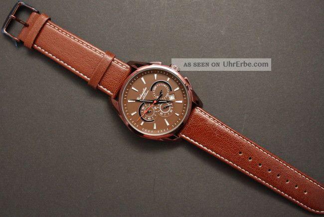 Eleganter Herren Chronograph Eichmüller Braun Lederarmband Armbanduhren Bild