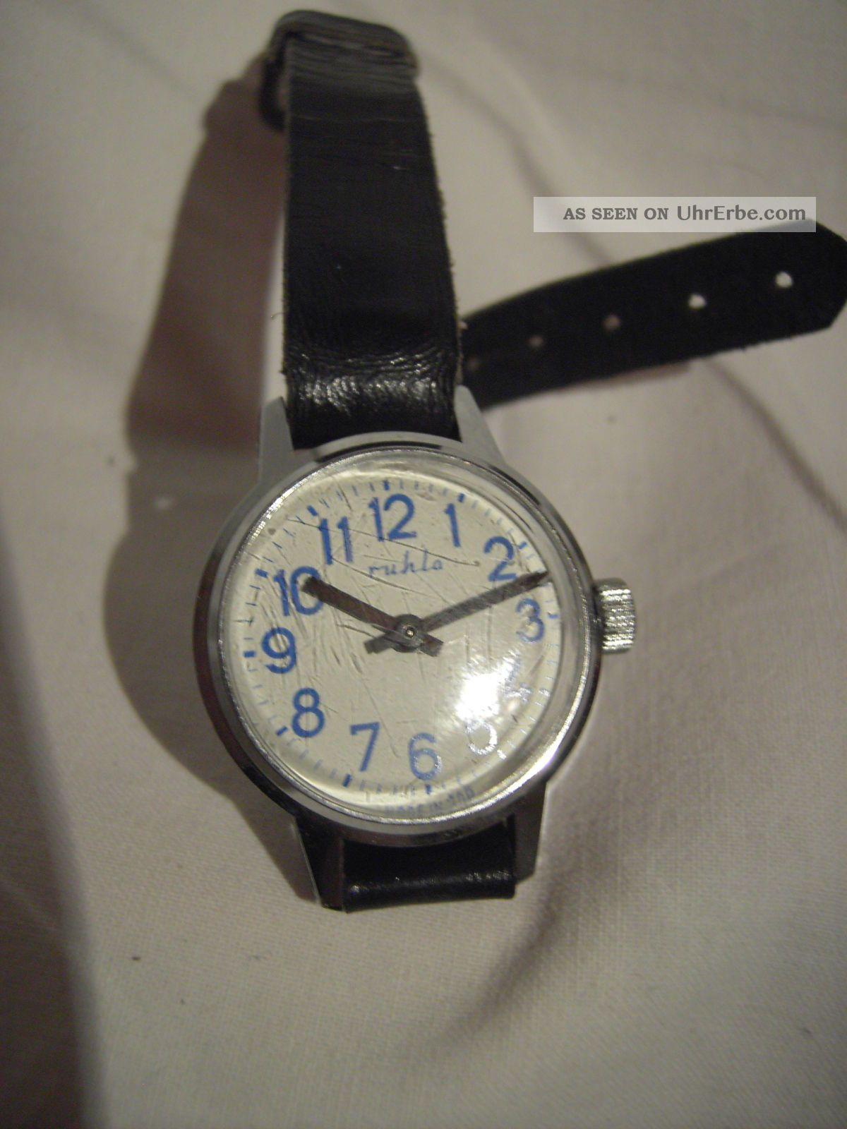 Alte Kinderuhr Ruhla Handaufzug - Armbanduhren Bild