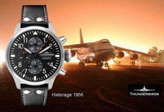 Legendäre Thunderbirds 1074 Historage Chronograph 47mm Herrenuhr Fliegeruhr Bild