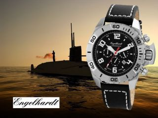 Robuster Engelhardt 50 Mm Chronograph 388921029003 U - Boot Herrenuhr Schatzkiste Bild