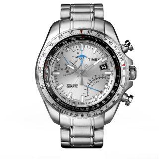 Timex Chronograph T2p104 Aviator Fly - Back Herrenuhr Edelstahl Fliegeruhr Quarz Bild
