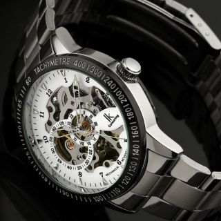 D Herrenuhr Automatik Edelstahl Herren Armband Uhr / Wm380 Bild