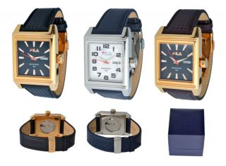 Fila Herren Automatik Uhren Modellreihe Fa 0886,  Stainless Steel,  Lederarmband Bild