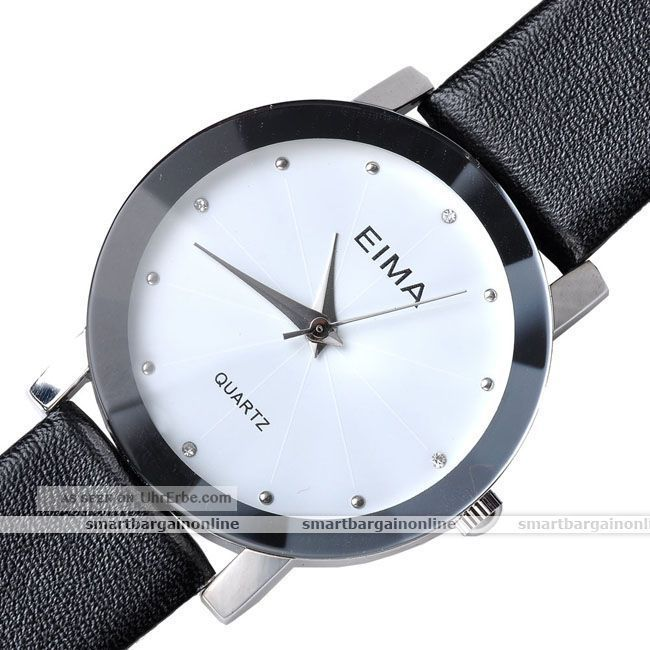 damen herren paare strass armbanduhr quartz quarzuhr geschenk schwarz wei. Black Bedroom Furniture Sets. Home Design Ideas