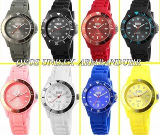 Qbos - Unisex Uhr - Silikon Armbanduhr - Verschiedene Farben Bild