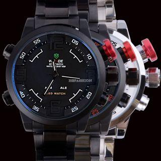 Analog - Digital Led Alienwork Uhr Wasserdicht 3atm Armbanduhr Herrenuhr Damenuhr Bild
