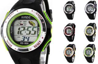 Armbanduhr Uhren Männer Mens Jungen Led Digital Sport Schwarz Datum Tag Alarm Bild