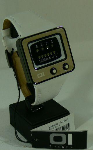 Oi The One Herren - Armbanduhr/ Uhr/ Mod - Tv228b1/ Binary Watch/ Tv Form - Neu&ovp 2 Bild