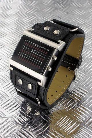 Jay Baxter Herrenuhr,  Binär - Uhr,  Uhren,  Led,  Matrix 2000,  Armbanduhr Bild