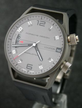 Porsche Design Worldtimer Titan/kautschuk Ref.  6750.  10.  24.  1180 Ungetragen Bild