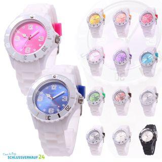 Sv24 Watch Armbanduhr Bunte Silikon Uhr Damen Herren Quarz Uhren Farbwahl Bild