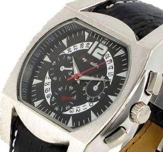 Jay Baxter Force Flieger Leder Uhr Retro Herrenuhr Bild