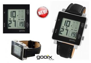 Gooix Herrenuhr Digital Design Uhr Chronograph Alarm Miyota (citizen) Uhrwerk Bild